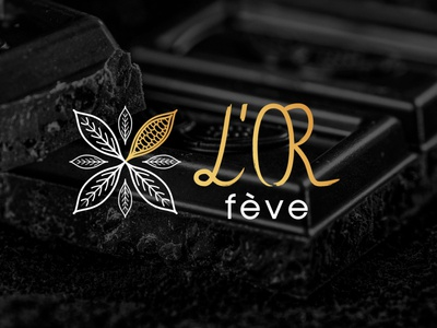 L'or fève typography icon branding vector logo illustration design