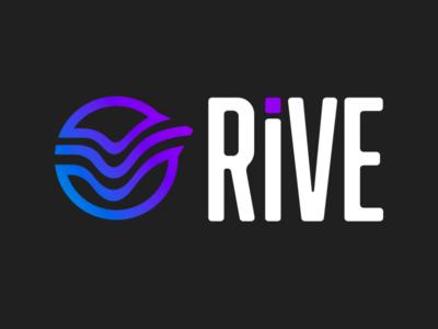 Rive illustrator typography icon branding vector logo illustration design