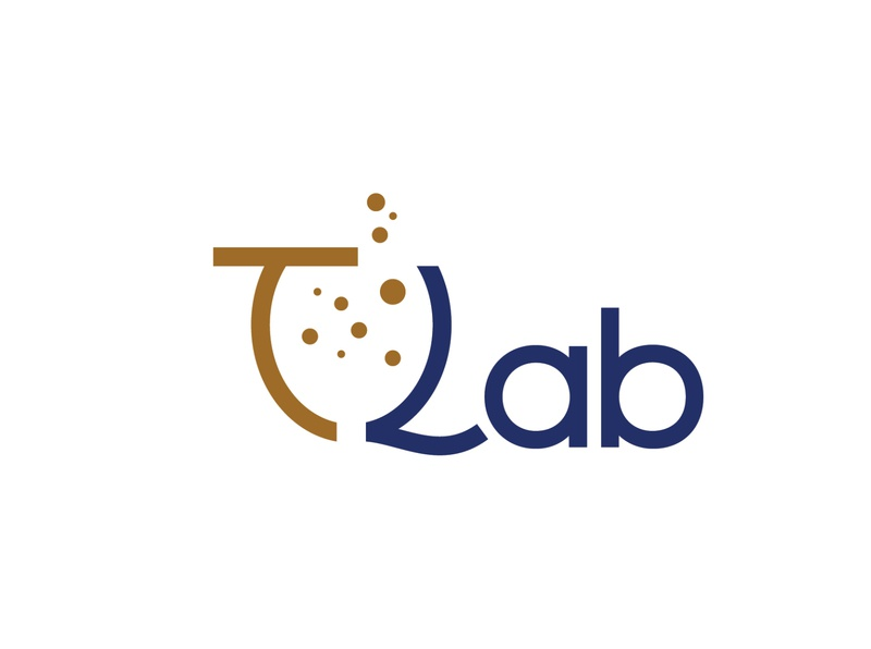 TLab tea bubble symbol logotype icon logomark logo design monogram logo identity branding