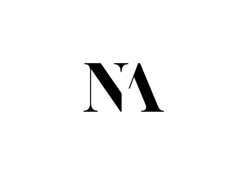 NA Monogram letter lettermark symbol logotype logomark logo design identity branding typography icon monogram design logo