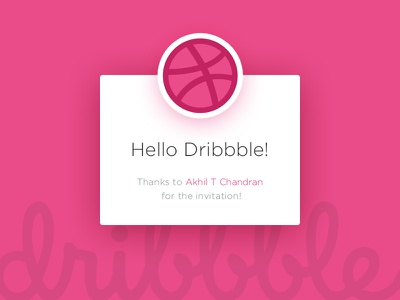 Hello dribbble! invite first simple flat hello debut shot debut dribbble