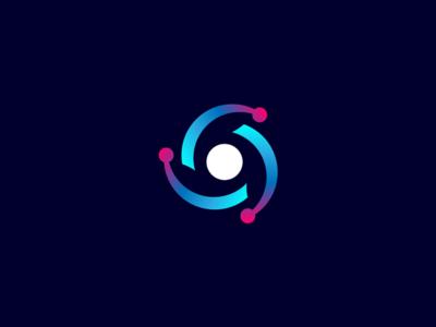 Syneco Corporation monogram design science corporate identity branding technology tech symbol icon logo design logo