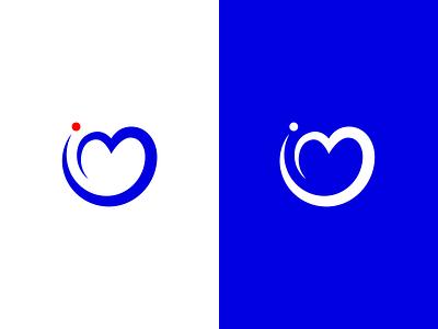ImageMats minimal simple branding lettermark typography monogram heart m i logotype identity logo