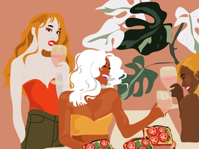 Food with Friends foodfriends foodillustration illustrator graphicdesign illustration