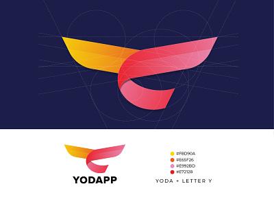 Yodapp logo design brand identity logotype design logotype logo design logo