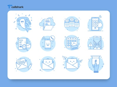 Callshark Icon Design icon artwork icon app iconography icon design icon set icon