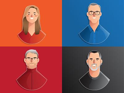 Say Hi to PulseVine team! vector art flat art vectors character design character cartoonize