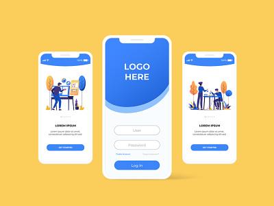 Modern Illustration Pack - Mobile UI sample iphone mobile illustration flat illustration vector illustration ui mobile uiuxdesign