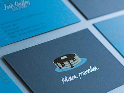 Pancake Cards business cards pancakes spot uv foil matte