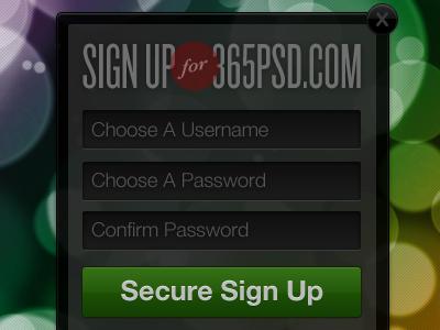365PSD Bundle Contribution 365psd user interface ui form sign up bokeh japan