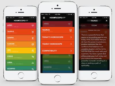 Horoscope App - iPhone UI