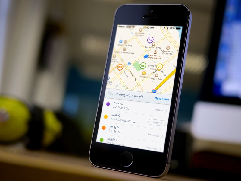 Flaer - iPhone UI ui user interface switch toggle animated map pins ios7
