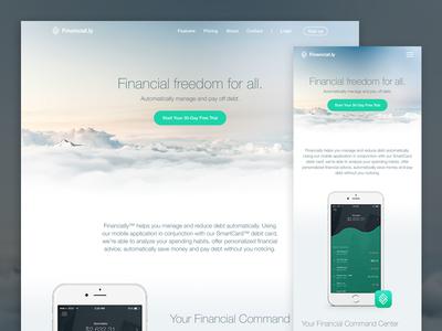 Financial Freedom - Responsive Marketing Website