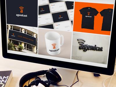 Agendcast - Brand Refresh renders mockups branding blocks logo identity branding