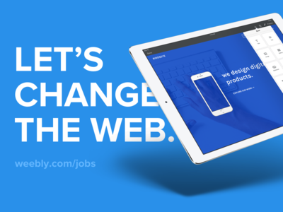 We're Hiring Designers - Weebly