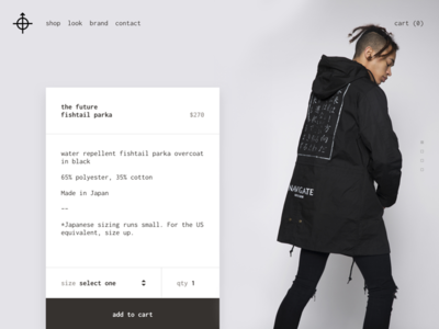 Navigate Clothing Commerce - Site Redesign made in japan japan streetwear ux ui clothing ecommerce fashion web marketing commerce