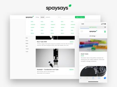 Spaysays - Web App and Brand logo branding user experience user interface ux ui web app