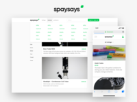 Spaysays - Web App and Brand