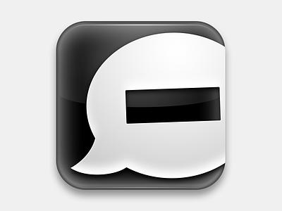 Shut Up v2.5 safari chrome extension icon comments antisocial plastic monochrome black white gloss plugin block speech bubble