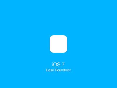 iOS 7 Base Roundrect Shape (PSD) resources psd ios roundrect ios 7 rounded rectangle icon shape blue white golden ratio