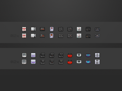 OpenEmu 1.0 Consoles @2x openemu videogames consoles icons emulator 32x32 16x16 retina @2x video games pixel art