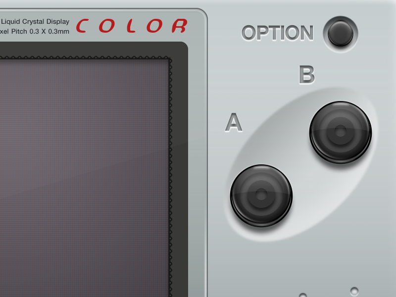 Neo Geo Pocket Color @2x illustration mac openemu plastic controller emulation silver buttons glossy video games neo geo