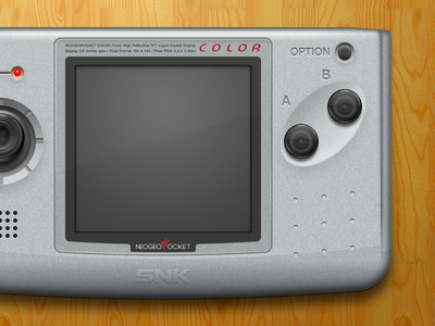 Neo Geo Pocket Color @2x (Final) illustration mac openemu controller emulation plastic buttons glossy silver video games neo geo