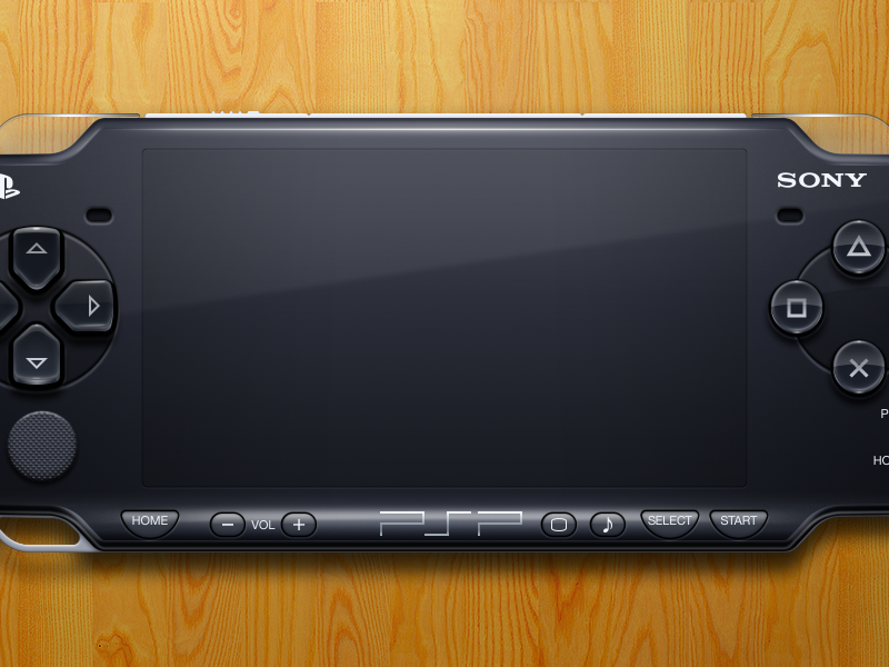 PSP illustration mac openemu controller emulation plastic buttons glossy sony black video games