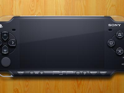 PSP illustration mac openemu controller emulation plastic buttons glossy sony black video games