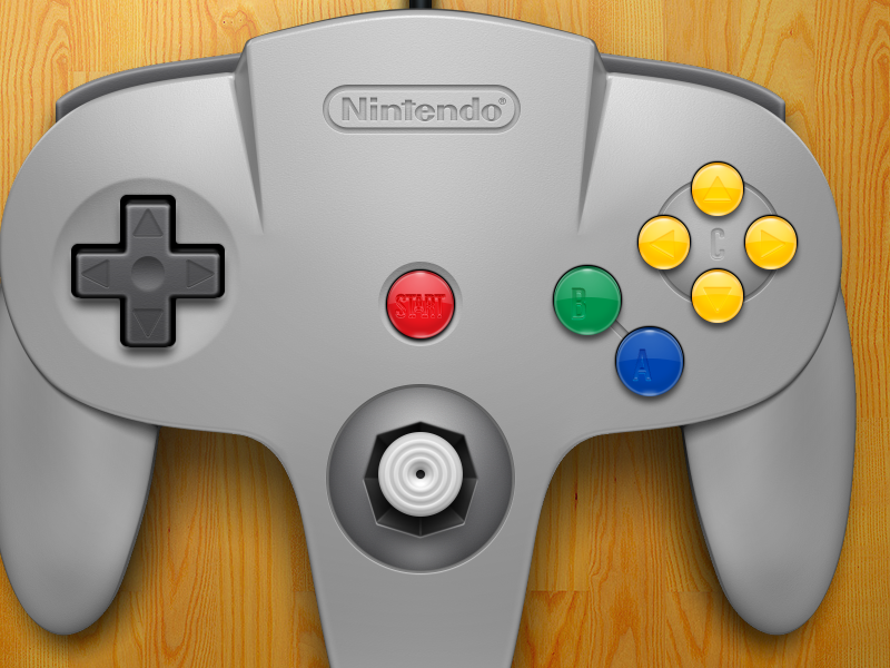 Nintendo 64 Controller 3d illustration openemu controller emulation plastic buttons silver nintendo video games n64