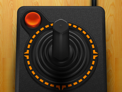 Atari 2600 Joystick illustration openemu controller emulation 3d plastic joystick atari 2600 black video games rubber