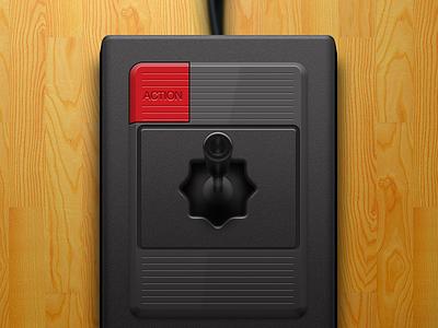 Odyssey2 video games odyssey2 joystick black plastic emulation controller openemu illustration