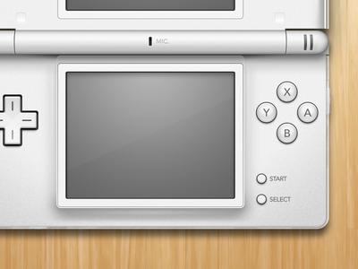 Nintendo DS Lite openemu emulation controller white video games nintendo nintendo ds ds lite wood illustration mac