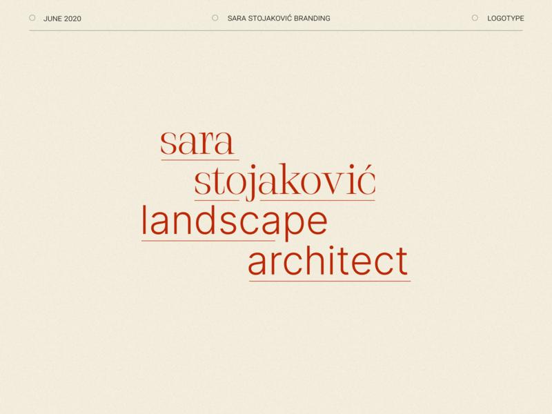 Landscape Architect Branding minimal logo typography branding design