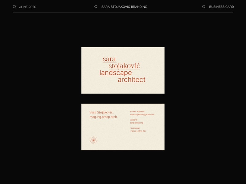 Landscape Architect Business Card logo minimal typography design branding