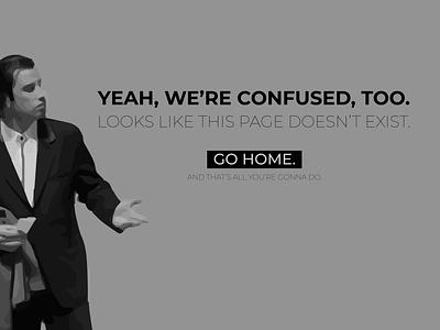 Vincent Vega 404 Error 404page 404 page error 404 error page 404 page john travolta movies pop culture pulp fiction vincent vega dribbbleweeklywarmup illustration adobe illustrator design graphic design