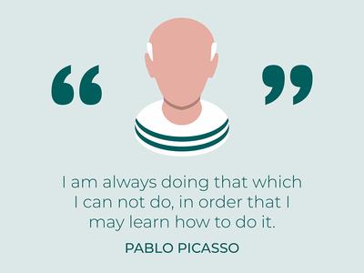 Pablo Picasso quote graphic