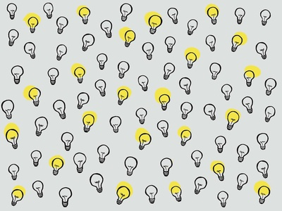 Lightbulb doodle illustration