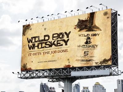Wild Boy Whiskey billboard mockup