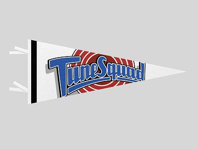 TUNE SQUAD GOALS minimal retro space jam cartoon fan service pennant sports dribbbleweeklywarmup