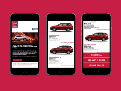 Nissan Eogue E-blast exact target crm email campaign eblast email marketing css html