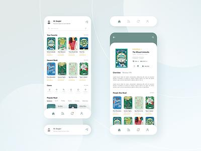 E-Book Application minimal clean app ebook book app app design design