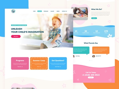Childcare Website Design colorful design childcare website childcare figma adaptive design website design visual design website ux ui web design design responsive design