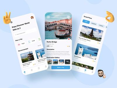 Travel App Exploration ux mobile ui design ui mobile app minimal application app design app