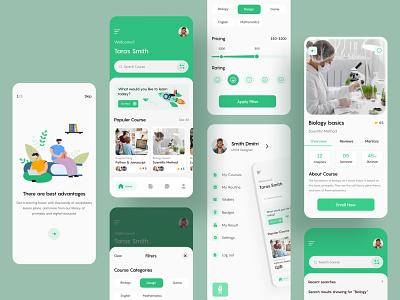 Online Course App study app online learning course education logo illustration design app design ux ui mobile app minimal app application