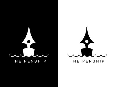 The Penship sketch ship pen logo