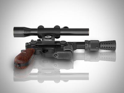Solo's Blaster dl44 dl-44 solo blaster hans blaster blaster pistol han solo star wars