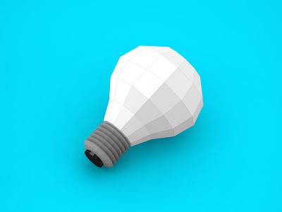 Origami light bulb low poly origami light bulb light