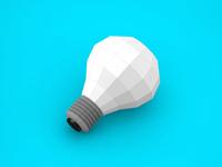Origami light bulb