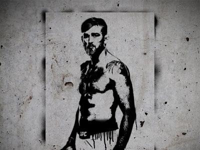 "Alexander ""The Mauler"" Gustafsson Stencil montana black montana cans the mauler graffiti spray. spray paint stencil concrete ufc mma alexander gustafsson"